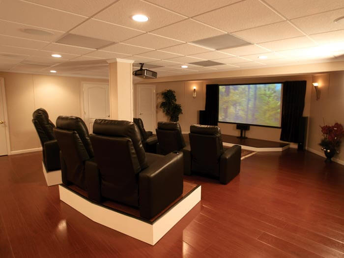 About total basement finishing of new jersey and for Home theater basement design ideas